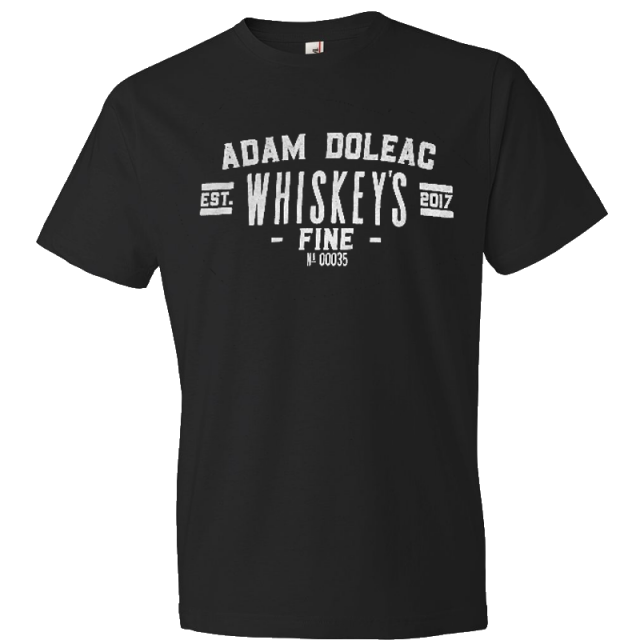 Adam Doleac Black Whiskey's Fine Tee