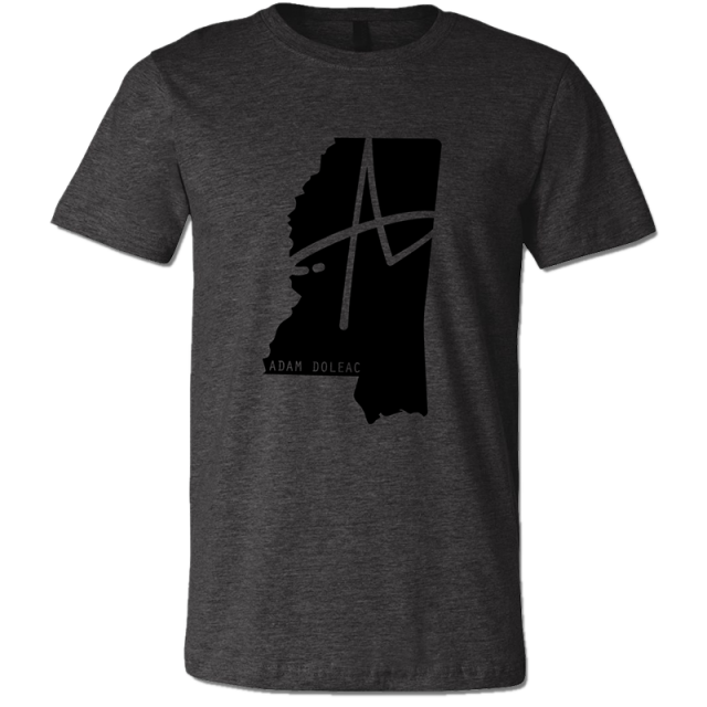 Adam Doleac Dark Heather Mississippi Tee