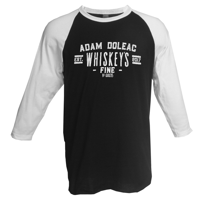 Adam Doleac Black and White Raglan Tee