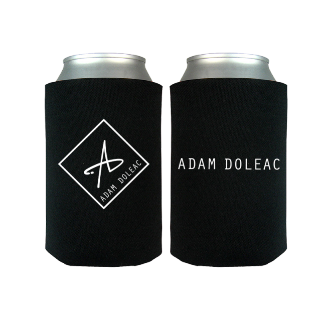 Adam Doleac Black Logo Can Coolie