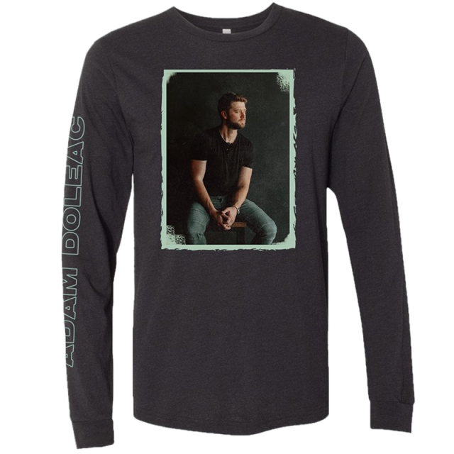 Adam Doleac Long Sleeve Black Heather Tee