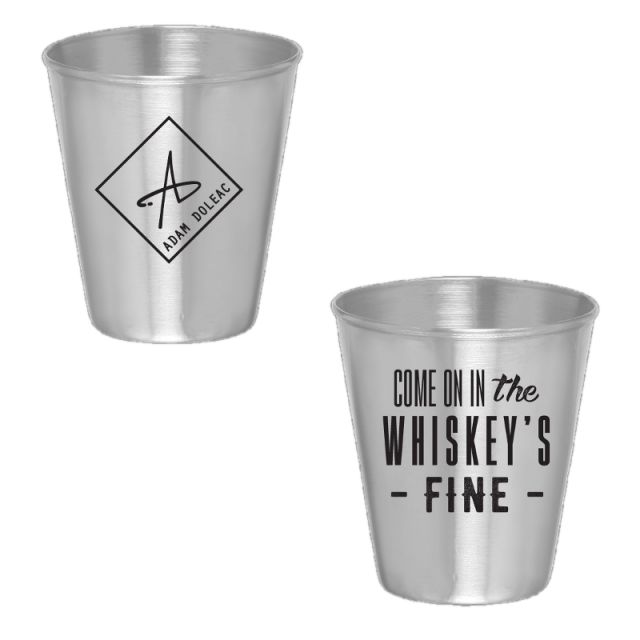 Adam Doleac Stainless Shotglass